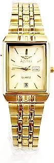 ساعة اديماكس للنساء - انالوج كوارتز - سوار ستانلس ستيل مينا ذهبية -sl811