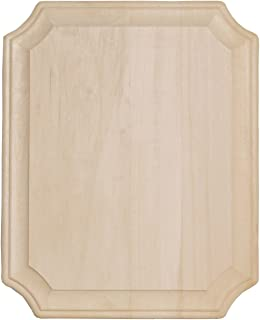 Walnut Hollow 8-Inch by 10-Inch Basswood French Corner Wide Edge Plaque