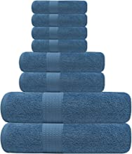 Tens Towels Bathroom Towels, Set of 8, 650 GSM Heavy Weight, 100% Cotton, 2 Extra Large Bath Towels, 2 Hand Towels, 4 Wash...