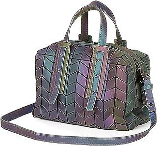 LIUNIAN Frauen leuchtende Handtasche Boston-Tasche Nachtglühen Geometrische Dreieck faltbare große Kapazität Umhängetasche...
