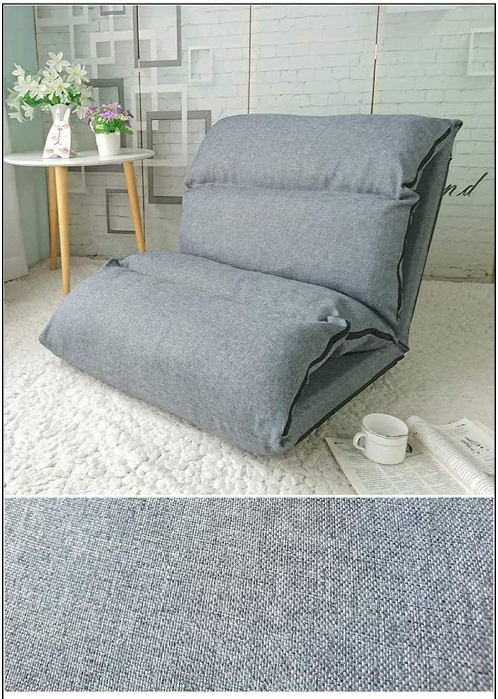 Chaise De Bureau Fauteuil Pliant Lazy Sofa Chair À Réglage 6 Vitesses Extended Leisure Chair - Rouge Marron