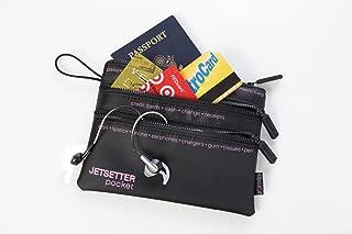 Nylon Travel Pocket 3-zip jetsetter, Black
