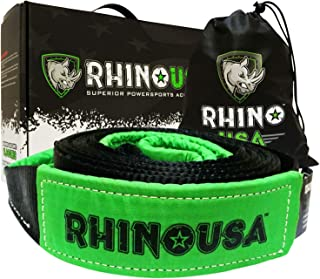 "RHINO USA Recovery Tow Strap 3"" x 20ft – Lab Tested 31,518lb Break Strength.."