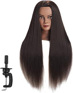 "Hairginkgo Mannequin Head 26""-28"" Super Long Yaki Synthetic Fiber Hair Manikin.."