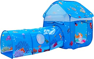 ALPIKA Kids Pop-up Tent Playhouse with Children Play Crawl Tunnel Toy Tube for Indoor&Outdoor Fun
