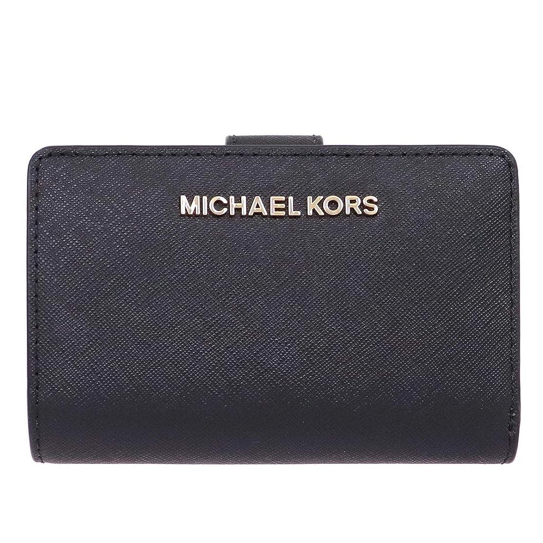 慎重にペンフレンド石炭[マイケル?コース] MICHAEL KORS 財布 (二つ折り財布) 35F7GTVF2L ブラック BLACK レザー 二つ折り財布 レディース [アウトレット品] [ブランド] [並行輸入品]