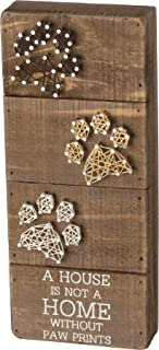 """Primitives by Kathy String Art Box Sign, 5"""" x 12"""", A House is Not a Home.."""