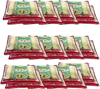 Amazon Brand - Solimo 12 Piece Non Woven Fabric Single Saree Cover Set, Pink