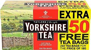 Yorkshire Tea Original Red Label 210 Theezakjes 656g - Juiste brouwsel voor een goede ochtend, 100% hoogwaardige thee voor...