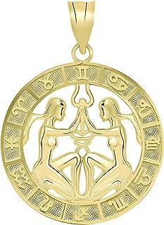 CaliRoseJewelry 10k Yellow Gold Zodiac Pendant