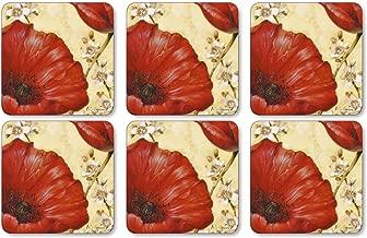 Pimpernel Poppy Villeneuve Coasters Multi Colour