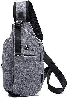 FANDARE Unisexo Bolso Pecho Cruzada al Hombre Mujer Bolsa de Cintura Sling Chest Bag Bolsos Cruzados Bandoleras Mochilas B...