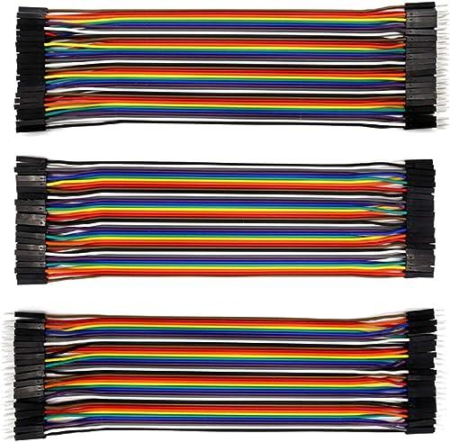 KEYESTUDIO 120pcs Multicolored Dupont Wire 40pin Male to Female, 40pin Male to Male, 40pin Female to Female Breadboar...