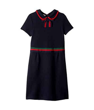 Gucci Kids Cotton Jersey Bow Dress (Little Kids/Big Kids) (Urban Blue) Girl