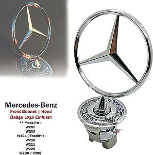 1x capó campana primavera Logo Emblema para Mercedes Benz W124W202W203W208W210W220