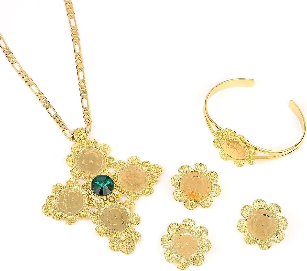 Coin Jewelry Sets Ethiopian Gold Coin Bridal Wedding Eritrea Habesha Jewelry