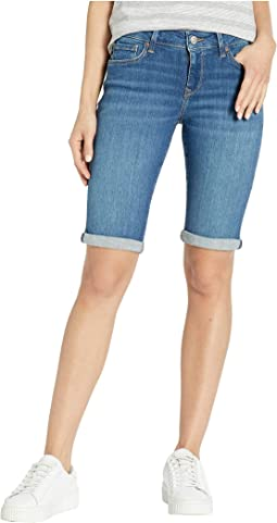 143ff464b Mavi jeans vanna mid rise cuffed shorts in dark shaded tribeca ...