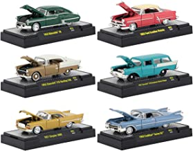 Auto Thentics 6 Piece Set Release 53 in Display Cases 1/64 Diecast Model Cars by M2 Machines 32500-53