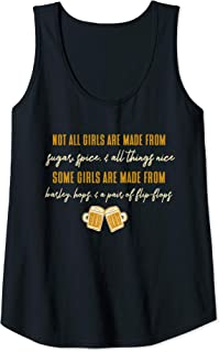 Womens Barley, Hops, and a Pair of Flip-Flops Craft Brew Lovers Tank Top