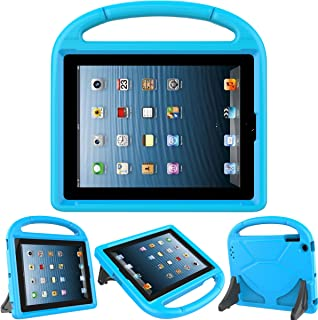 Kids Case for iPad 2 3 4 - TIRIN Shock Proof Convertible Handle Light Weight Durable Super Protective Stand Cover for iPad 4, iPad 3 & iPad 2 2nd 3rd 4th Generation Tablet,Blue
