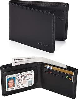 Slim Wallet for Men -Thin Bifold Genuine Leather RFID Blocking Minimalist Stylish Front Pocket Mens Wallets