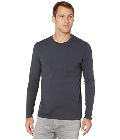 Prana Rex Long Sleeve Crew (Charcoal) Men