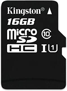 Kingston Digital 16GB Micro SDHC UHS-I Class 10 Industrial Temp Card (SDCIT/16GBSP)