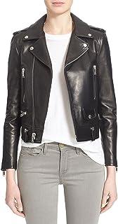 Women's Lambskin Cubby Leather Jacket, Biker Jacket
