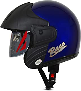 ACTIVE RACE Open Face Helmet (BLUE)