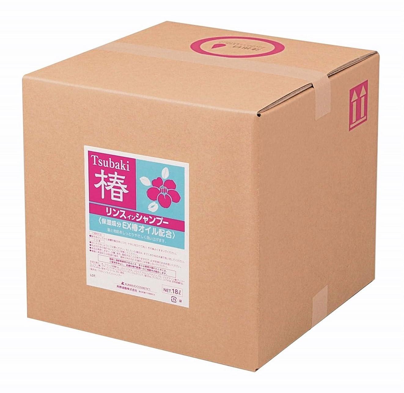 代わりにを立てるブローホールのために熊野油脂 業務用 椿 リンスインシャンプー 18L