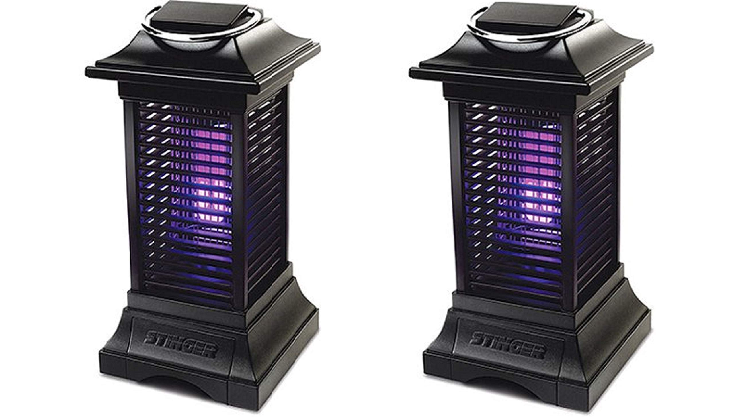 Set of 2 Cordless Bug Zapper Mosquitoes Rechargeable Outdoor Garden Camping Picnic Accent Light