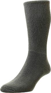HJ1351 Hall Unisex Cotton Diabetic Smooth Cushion Foot Socks