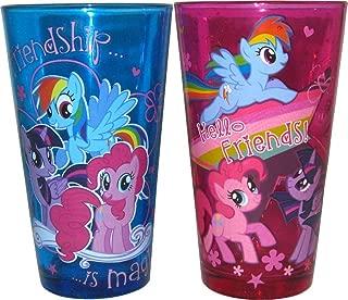 Silver Buffalo MLP031P3 Hasbro My Little Pony Friendship is Magic Pint Glass Set, 2-Pack