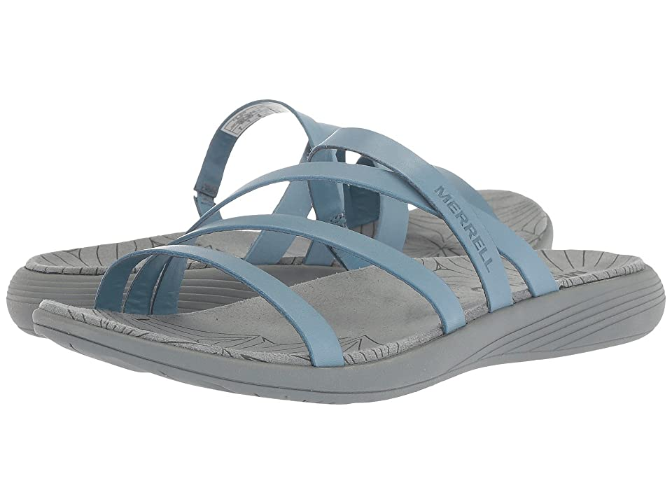 Merrell Duskair Seaway Slide Leather (Blue Heaven) Women