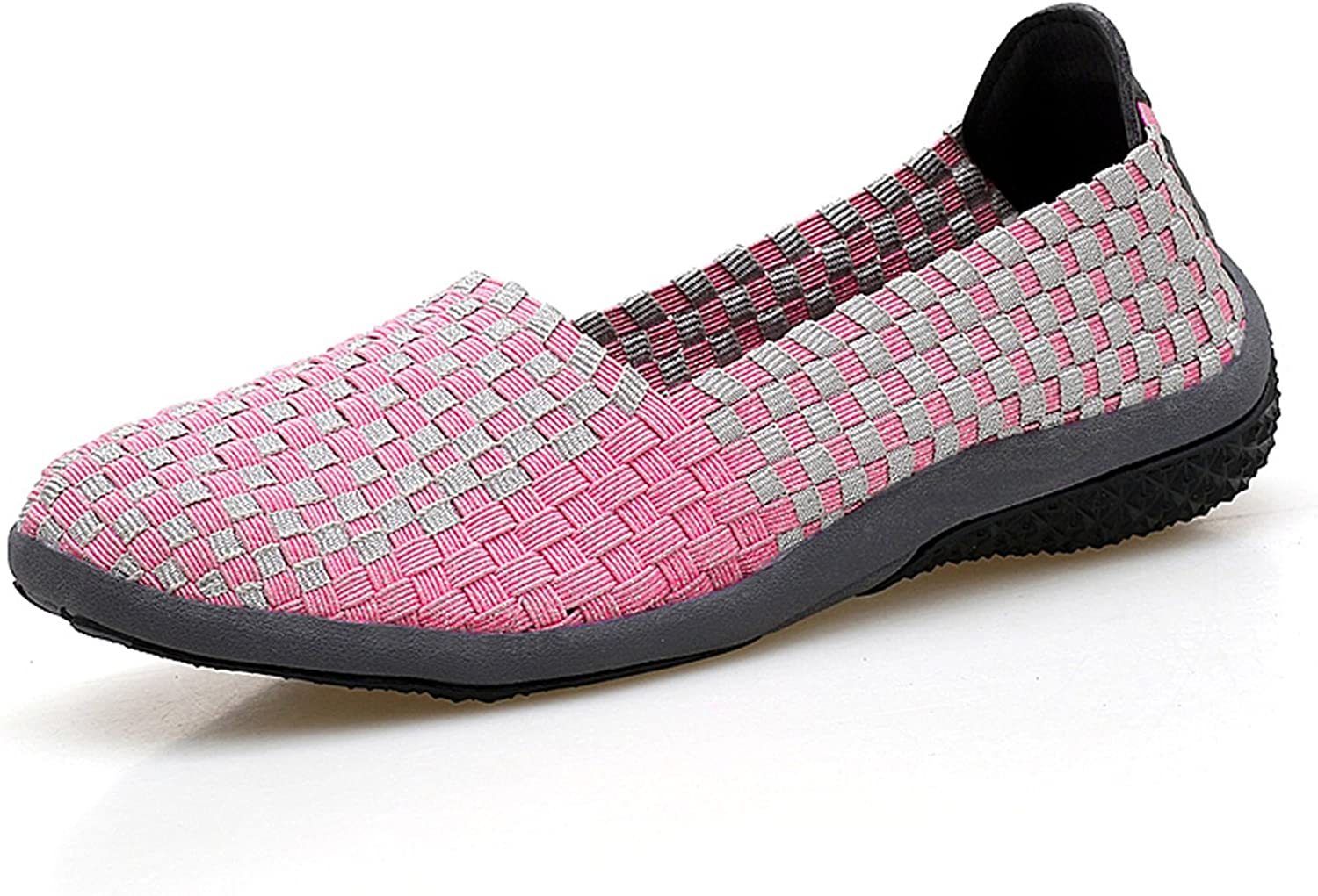 Zcaosma Women Slip On Loafers shoes Women Footwear Woven Breathable Mesh Outdoors Ballet Flats shoes