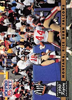1991 Pro Set Football Card #329 Joe Montana/Jerry Rice San Francisco 49ers Official NFL Trading Card