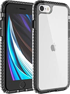 iPhone 8 case/iPhone 7/iPhone SE 2020 case, Translucent Hard PC Back Cover Shockproof and Anti-Drop Protective Case with S...