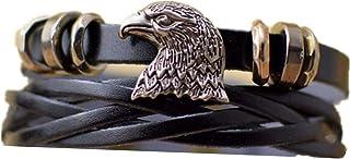 Mens Womens Tribal Alloy Hawk Eagle Braided Wrap Cuff Bangle Bracelet