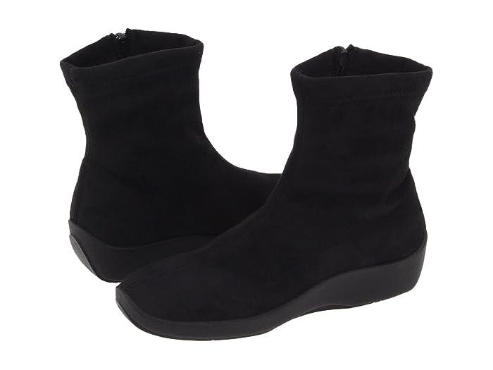 Arcopedico  L8 (Black Faux Suede) Womens Zip Boots