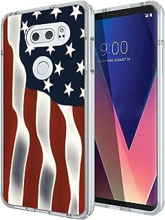 for LG V30 Case Floral,Gifun Slim Soft Black TPU Premium Flexible Protective Case for LG V30/V30 Plus/V30S (2017) - Abstra...