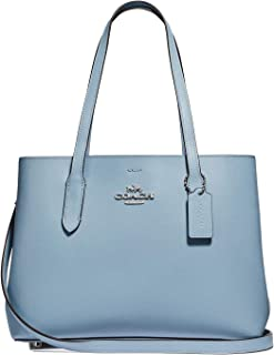 Leather Avenue Carryall Tote Purse - #48734 - Cornflower Blue/Silver