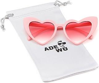 2087cafb34 ADEWU Gafas de sol en forma de corazón Chicas Gafas retro de moda para mujer