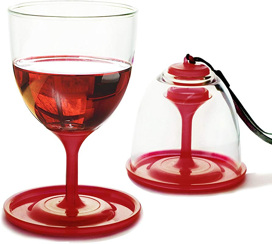 Asobu VT13 9235 StackNGo Unbreakable Wine Glasses Red Set Of 2