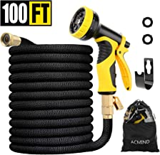 Acmind 100FT Expandable Garden Hose, Extra Strength Fabric and Double Latex Core Water Hose, 3/4