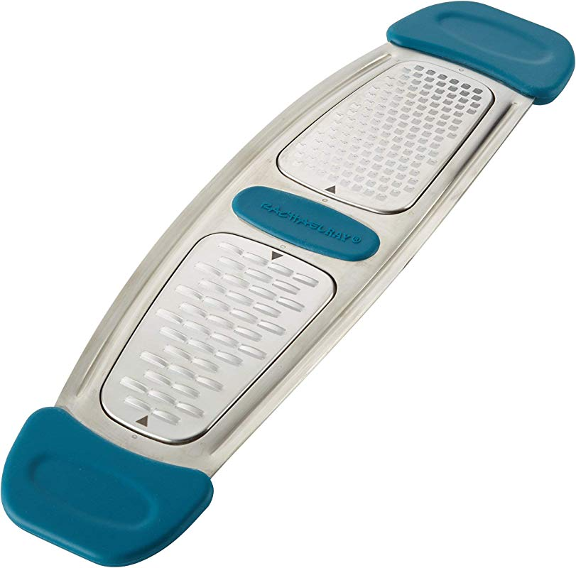Rachael Ray 46913 Stainless Steel Multi Grater With Silicone Handle Small Marine Blue Renewed