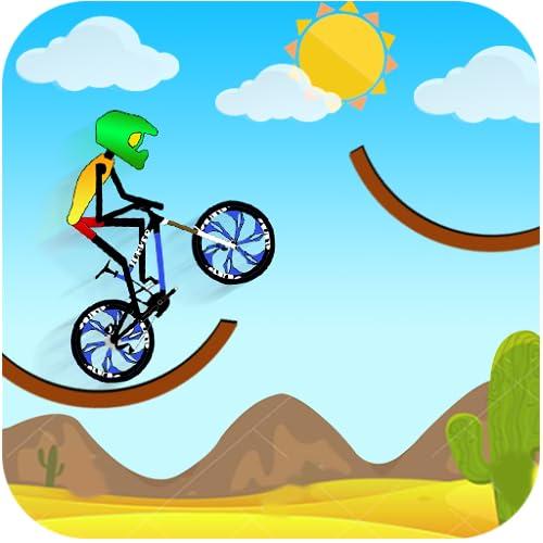 Carrera de montaña en bicicleta de montaña
