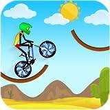 Course de cascades de montagne de vélo de montagne
