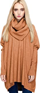 Women's Oversized Pullover Sweater Loose Cowl Neck Long Sleeve Knit Top