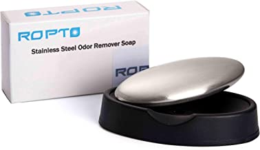 Stainless Steel Soap - hand Odor Remover bar - Eliminating Smells Like Onion Garlic Fish and Other Strong Scents from Hand...