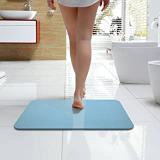 Bazal Bath Shower Mat, Diatomaceous Earth Bath Mat,Non Slip Bathtub Mats Absorbent Fast Drying for Bathroom Shower Floor-24 x 15.7 x 0.4 inch